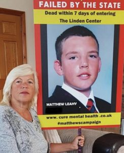Justice - Melanie Leahy and a picture of her son Matthew